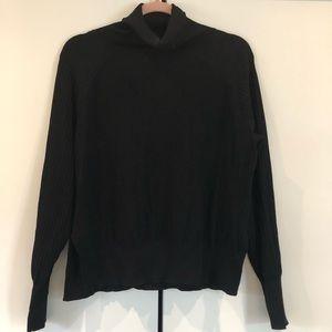Aritzia Wilfred free mock neck knit sweater black